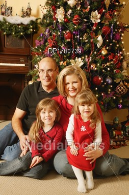 Indoor Christmas Family Pictures