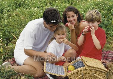 Family Picnic Stock Photo