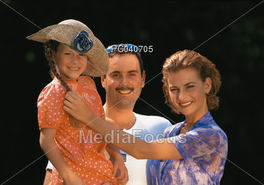Family Portrait Stock Photo