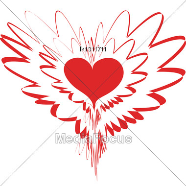 Fantastic Variation With Red Heart For Valentines Day Stock Photo