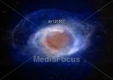 Far Unknown Nebula In An Outer Space Stock Photo