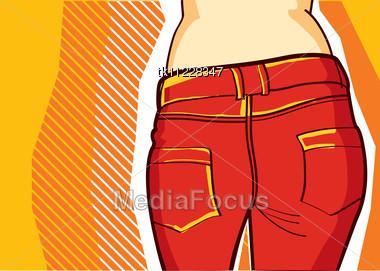 FAshion Clothe Background .Retro Style For Design Stock Photo