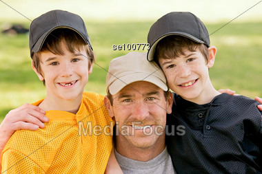 Father and Sons Stock Photo