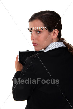 Female Suspect Stock Photo