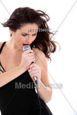 Female Vocalist Stock Photo