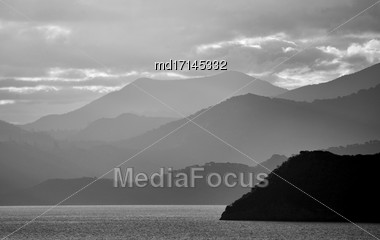 Ferry View Picton New Zealand To South Island Stock Photo
