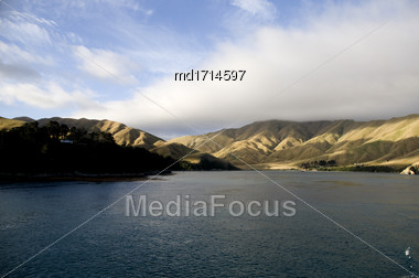 Ferry View Wellington New Zealand To South Island Stock Photo