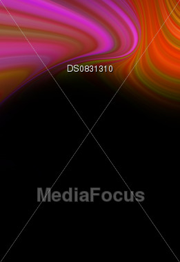 Festive abstract twisted color on black back background Stock Photo