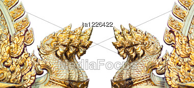 Figures Of Golden Dragons Stock Photo