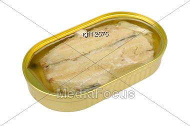 Fillet Sardines In Oil Stock Photo