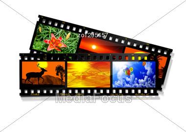 Film With Photos Stock Photo