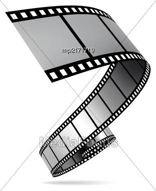 Film Strip Vector Illustration On White Background Stock Photo