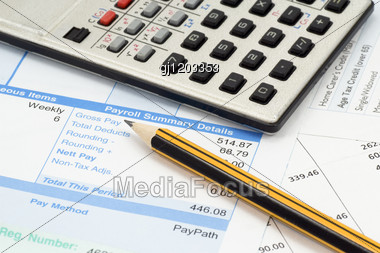 Financial Accounting. Statement,calculations And Expenses Stock Photo