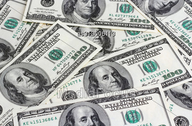 Financial Concept Of Earnings, American Dollars, Background. Stock Photo