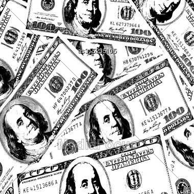 Financial Concept Of Earnings, American Dollars, Background. Vector Illustration Stock Photo