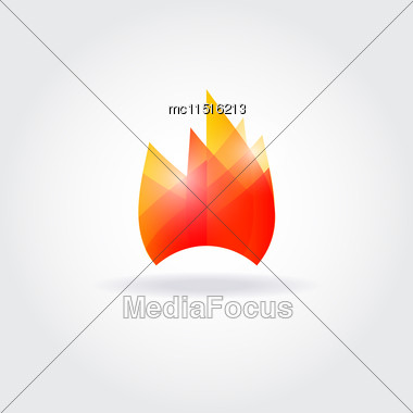 Fire Flame Vector Logo Design Stock Photo