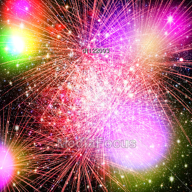 Fireworks. Abstract Holidays Backgrounds Stock Photo
