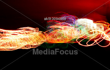 Fireworks At Night Party 2011 Stock Photo