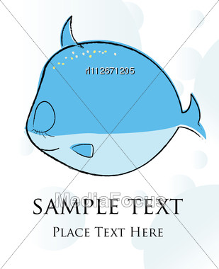 Fish Card Stock Photo