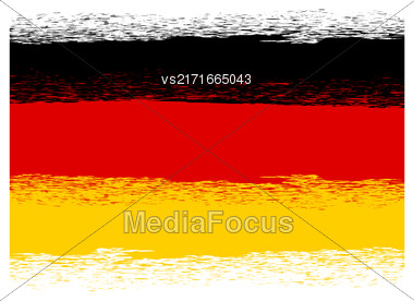 Flag Of Germany. Symbol Has A Detailed Grunge Texture Stock Photo