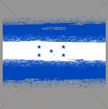 Flag Of Honduras. Symbol Has A Detailed Grunge Texture Stock Photo