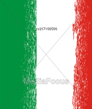Flag Of Italy. Italian Flag Pattern. Grunge Italy Flag Stock Photo