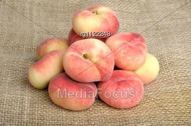Flat Peach Stock Photo