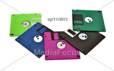Floppy Diskettes Stock Photo