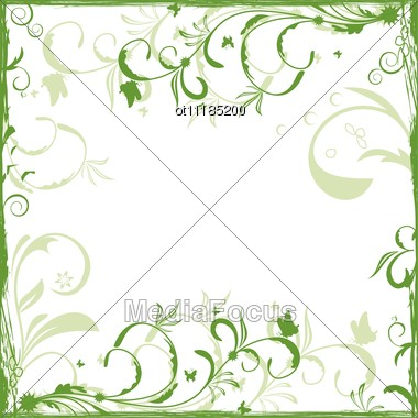 Floral Background For Design Card Stock Photo