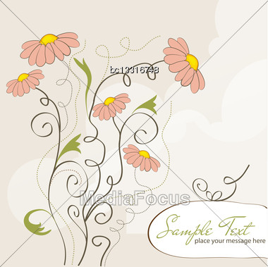 Floral Background In Vector Format Stock Photo
