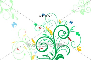 Floral Decorative Background For Holiday?s Card Stock Photo
