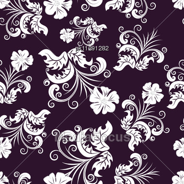 Floral Seamless Background For Yours Design Use. Stock Photo