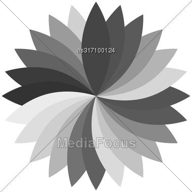 Flower Color Lotus Silhouette For Design Illustration Stock Photo