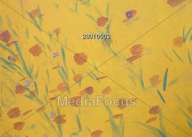 Flower Painting Stock Photo