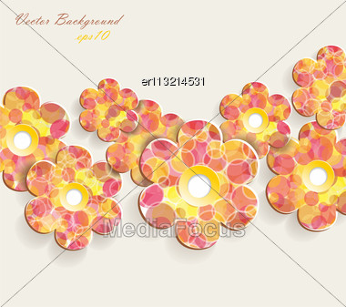 Flower Vector Background Stock Photo