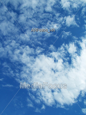 fluffy cloud Stock Photo