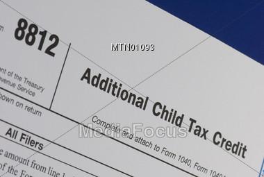 Form 8812 Child Tax Credit Stock Photo