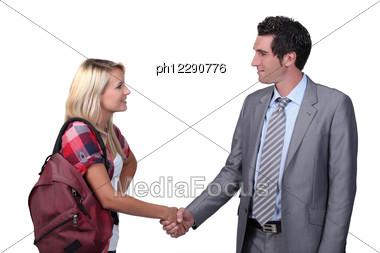 Formal Greeting Stock Photo