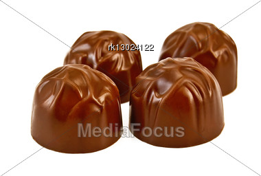Four Chocolates Isolated Stock Photo