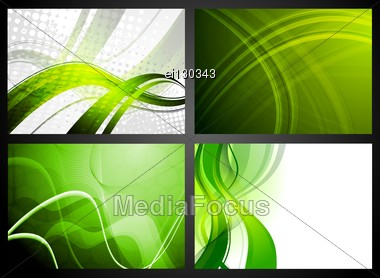 Four Colorful Backgrounds. Stock Photo
