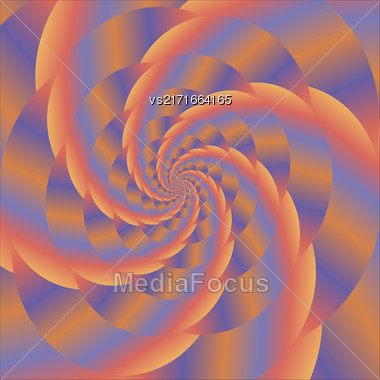Fractal Design. Abstract Colorful Sphere. Colored Spiral Background. Fractal Pattern Stock Photo