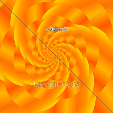 Fractal Design. Abstract Sphere. Gold Spiral Background. Fractal Pattern Stock Photo