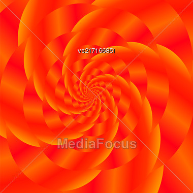 Fractal Design. Abstract Sphere. Red Spiral Background. Fractal Pattern Stock Photo