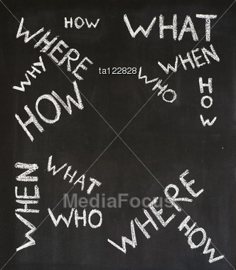 Frequently Asked Questions Handwritten On A Blackboard Stock Photo