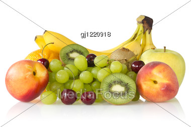 Fresh Assorted Fruits Stock Photo