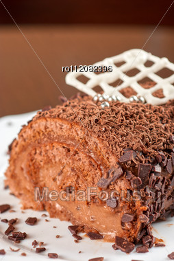 Fresh Baked Cupcake On A Wooden Table Stock Photo