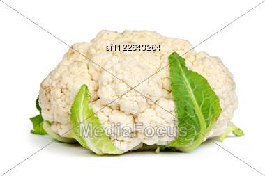 Fresh Cauliflower Stock Photo