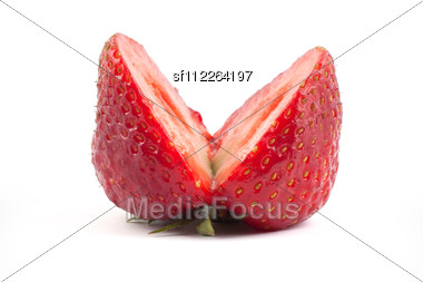 Fresh Cut Strawberrie Stock Photo