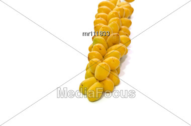 Fresh date fruits Stock Photo