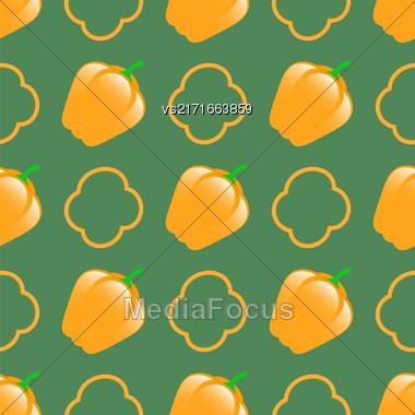 Fresh Green Seamless Pattern On Green Background Stock Photo